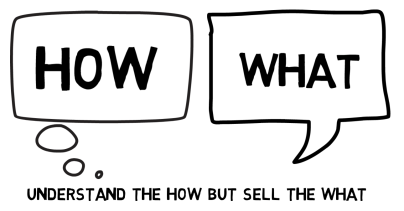 Sell the what, not the how